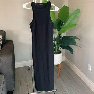 Women's TOPSHOP All Black Bodycon Maxi Dress SZ 4